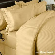gold stripe twin duvet cover set 100 cotton 300 thread count