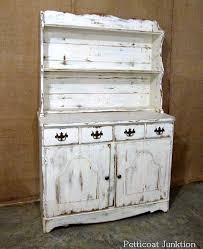 distressed white furniture. Perfect White White Hutch Distressed On Distressed White Furniture