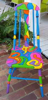 brightly painted furniture. Pink Okra Handpainted OOAK Chair { Custom Colorful Painted Chair} | Paint Furniture, Furniture Ideas And Funky Brightly