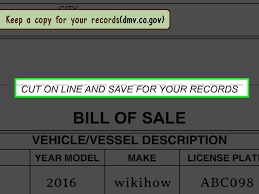 how to make bill of sale 3 ways to write a bill of sale wikihow