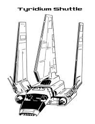 Awesome Tyridium Shuttle In Star Wars Coloring Page Download