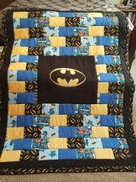 Easy to sew child's batman quilt. Directions for sewing a small ... & Batman quilt for Nate More Adamdwight.com
