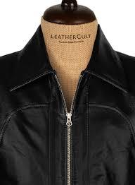 wrinkled black leather jacket 817 l regular
