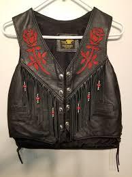 women s leather motorcycle vest