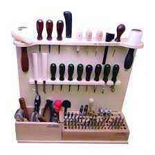 tandy leathercraft tools leathercraft deluxe tool knife storage rack holder and