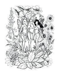 Fairy Coloring Pages For Adults Fairy Coloring Pages Printable Free
