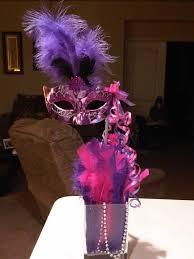 Masquerade Mask Table Decorations Tall mask centerpiece Centerpieces Pinterest Masquerade 39