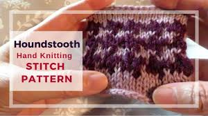 Houndstooth Knitting Pattern Chart Hand Knit 2 Color Houndstooth Stitch Pattern In The Round