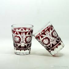 hand cut to clear glass tumbler ruby red glass beer cup juice glass tea set hand cut to clear glass glass tumbler glass beer cup with 42 19 piece