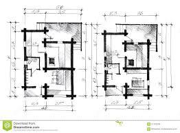 Monochrome Sketch Of A House Plan Stock Illustration   Image  Monochrome sketch of a house plan