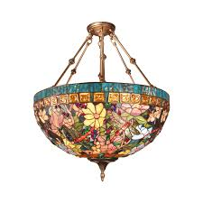 one other image of vintage stained glass chandelier