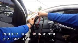 soundproof rubber seal install