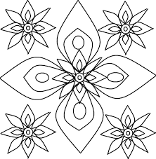 Small Picture Free Printable Rangoli Coloring Pages For Kids