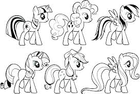 Likeable My Little Pony Coloring Pages Printable Page Princess