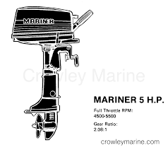 Prop Chart 1977 Mariner Outboard 5 M 7005207 Crowley