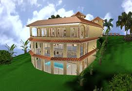building on a hillside plans ideas hill side home from zero energy design 856 590