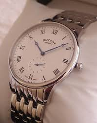 new rotary men s gb03638 06 swiss made stainless steel bracelet image is loading new rotary men s gb03638 06 swiss made
