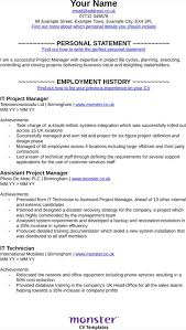 mechanical engineer cv template for excel pdf and word it project manager cv template
