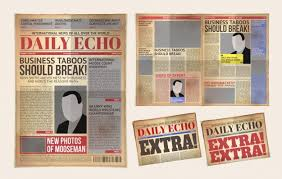 Extra Extra Newspaper Template Vector Old Daily Newspaper Template Tabloid Layout Posting