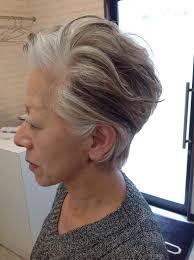 白髪を生かした上品なヘア オーラムのお客様2019 白髪 ヘア