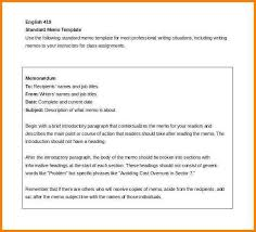 Template For Writing A Memo New Business Memo Letter Examples