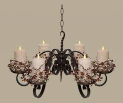 pillar candle chandelier lighting non electric hanging