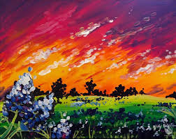 bluebonnet sunset