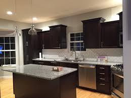 Kitchen Colors Dark Cabinets Dark Cabinets Kraft Maid Subway Tile Azul Platino Granite 2016