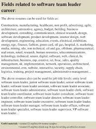 Resume Of Team Leader Top 8 Software Team Leader Resume Samples