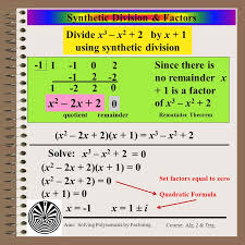 5 synthetic division factors