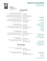 Example Graphic Design Resume Examples Of Resumes Graphic Design