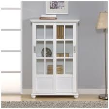 bookcases with glass doors minimalist shelves wonderful white bookcase with sliding glassdoor glass