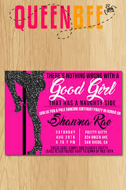Dance Invitation Ideas Passion Party Invitations Pole Dancing Birthday Party Invite With