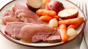 slow cooker old world corned beef and