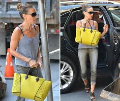 louis vuitton bags celebrities. american actress sarah jessica parker was spotted carrying this bag in several everyday occasions. she choose the bright yellow version of lv bag. louis vuitton bags celebrities