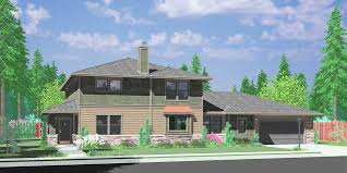 10096 two story traditional house plan features single family with in law suite