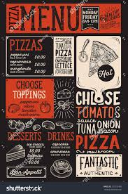 Steak Menu Design Pizza Food Menu For Restaurant And Cafe Design Template