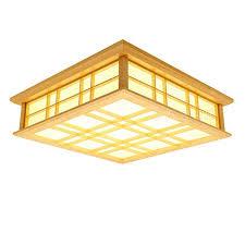 wood ceiling light stirring lyxg japanese led solid lamps tatami decorating ideas 29