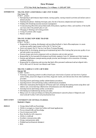 Travel Nurse Resume Sample Travel Nurse Resume Samples Velvet Jobs 22
