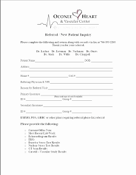 Medical Referral Form Template Fresh Patient Referral Form