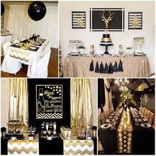 Black And Gold Party Table Decorations. 21st Party Themes60th Birthday ...