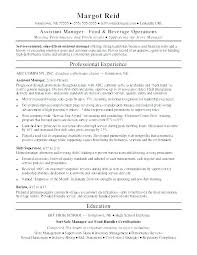 General Manager Resume Template Resume Samples For Assistant Manager ...
