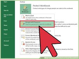 Encrypted Excel Files How To Password Protect An Excel Spreadsheet With Pictures