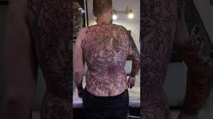 татуировка на всю спину в японском стиле маска ханья мастер японской татуировки в москве
