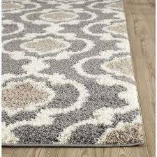 cozy moroccan trellis gray cream indoor area rug 5 3 x 7 3 black and