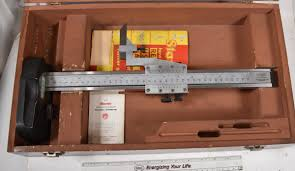 sold starrett 254 12 master vernier height gage good condition in a nice wood box a big step up over normal height gages