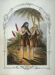 expulsion of adam and eve from paradise frontispiece in the book the book of sunday pictures for little children old testament london the religious