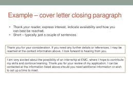 Ideas Collection Cover Letter Conclusion On Good Closing A Cover