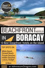 best beachfront hotels in boracay and secret beach hotels