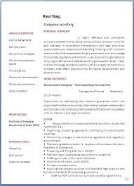 Cv For Company Secretary Resume Format Current Though Best Photo
